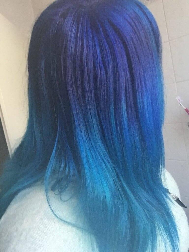 Haare färben ombre blau
